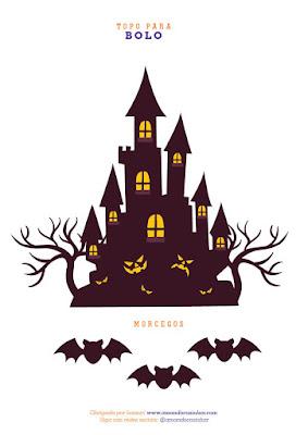 topo para bolo Impressos para sua festa de Halloween para baixar GRÁTIS