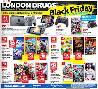 London Drugs Black Friday 13 day Gaming Event November 24 - December 6