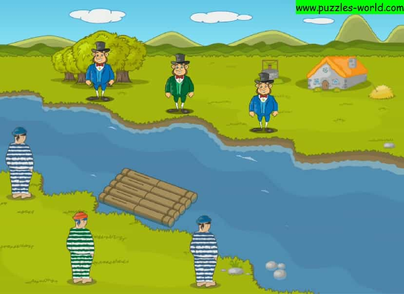 Three robbers and three merchants River crossing puzzle