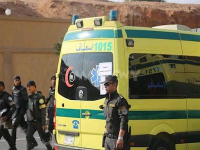 حادث أتوبيس أقباط المنيا, سيارة إسعاف, الأنبا مكاريوس, أحمد الأنصاري, هجوم المنيا,