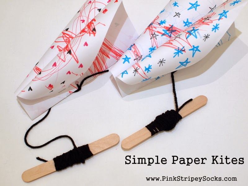 DIY Paper Kites - Simple Diamond Kite ⋆ Dream a Little Bigger | 600x800