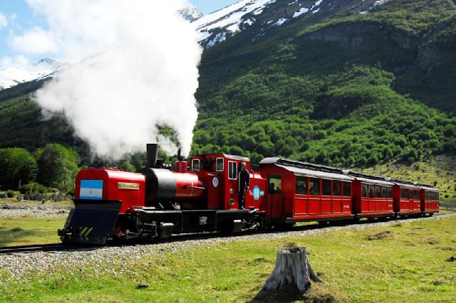 Tren del Fin del Mundo na Terra do Fogo na Argentina