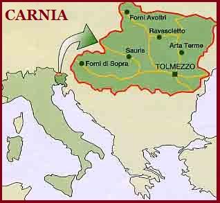 Cartina Geografica Carnia.Blog De Bruno Carnio Il Cognome Carnio