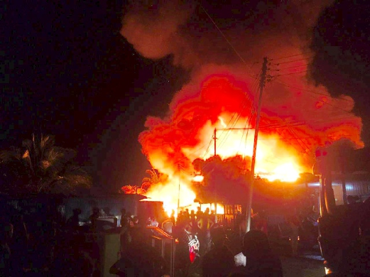 300 Buah Rumah Terbakar Di Tawau Sabah