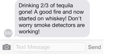 Drunk text to husbands.