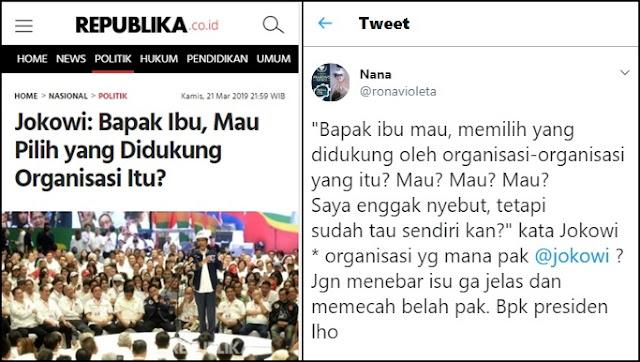 Narasi Jokowi Picu Pemilih Lari?
