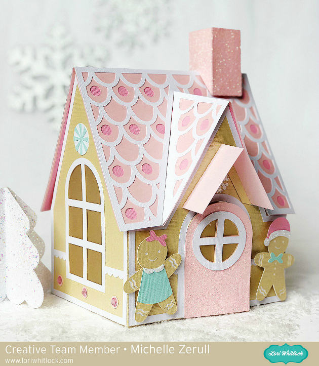Pink Paper Gingerbread House