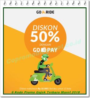 6 Kode Promo Gojek Hingga Rp 30.000 Terbaru Maret 2018
