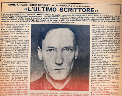 William Burroughs intervistato da Re Nudo