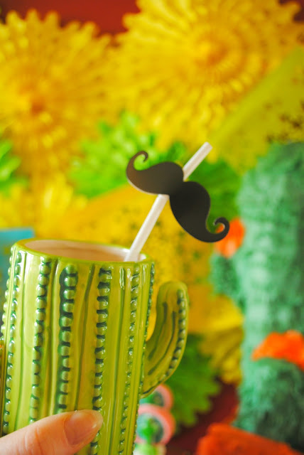 It's Fiesta time with these cute cactus glasses from Oriental Trading.