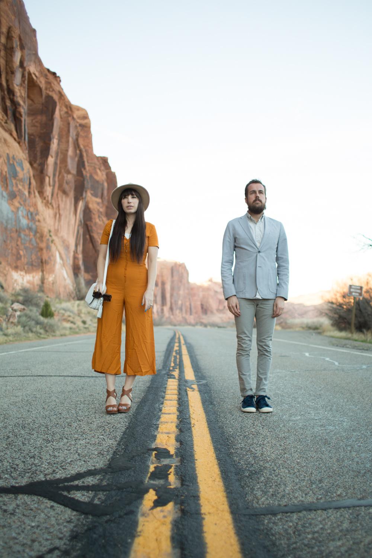 Arches National Park, Fashion Couple