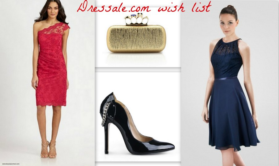 lace dress, black patent heels, clutch, dark blue dress