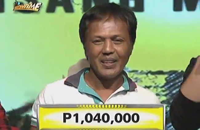 Ice Cream Vendor Won the First One Million Jackpot Prize in It's Showtime