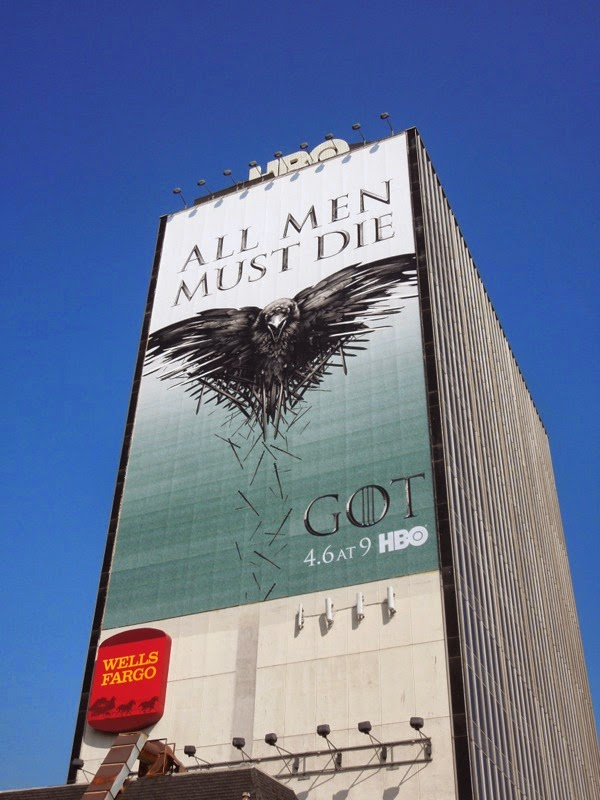 Giant Game of Thrones All Men Must Die season 4 billboard