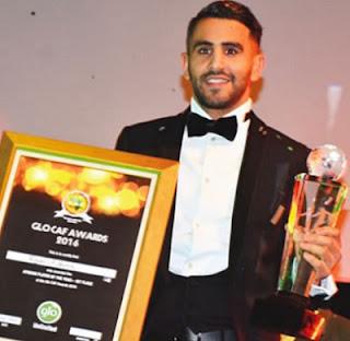 Mahrez Wins African Footballer Of The Year In Abuja; Iheanacho, Iwobi Too Clinch Awards