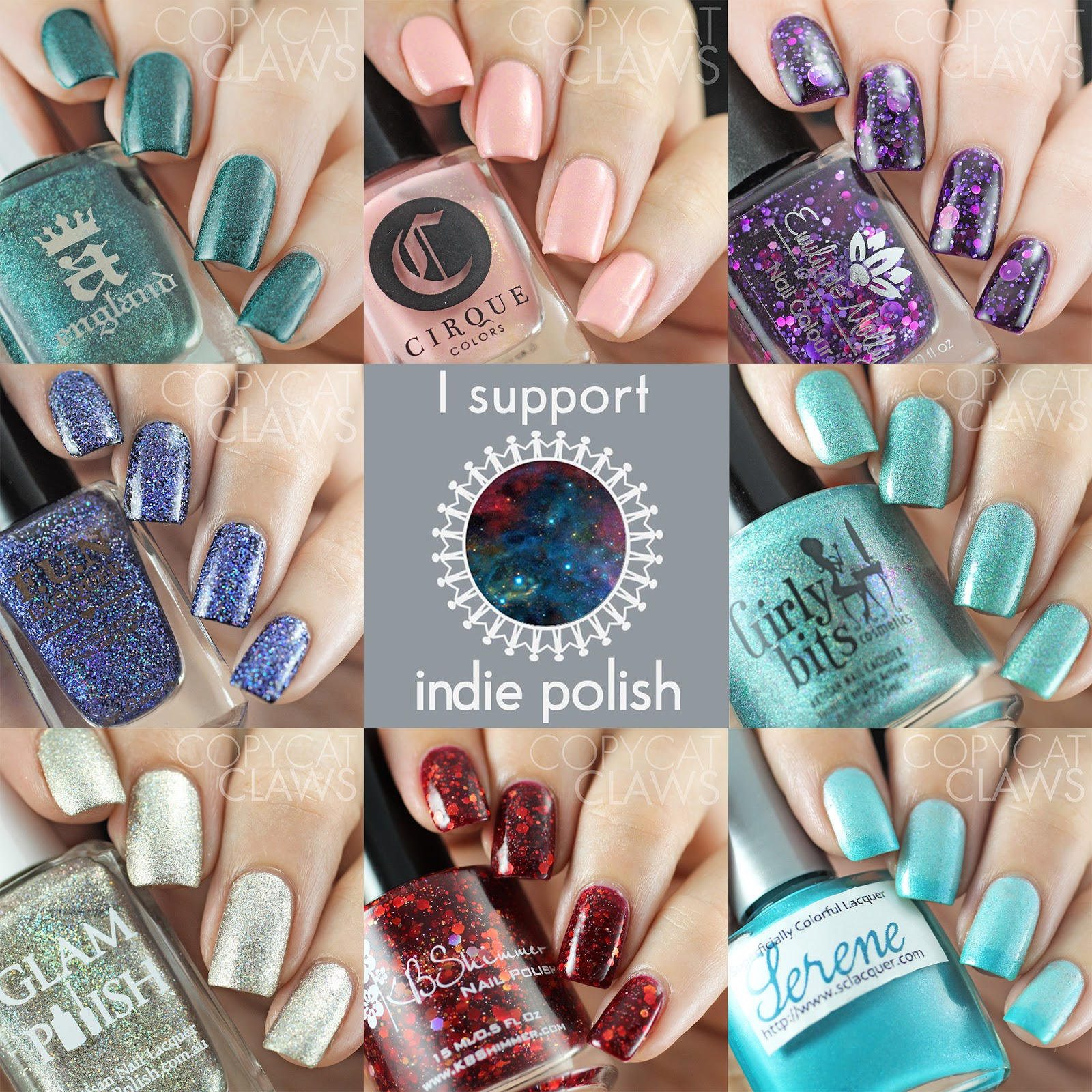 Copycat Claws: #ITRUSTINDIES - Indie Nail Polish Swatches