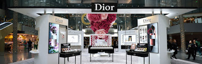 The Dior Les Parfums installation is inspired by the Provence rose.