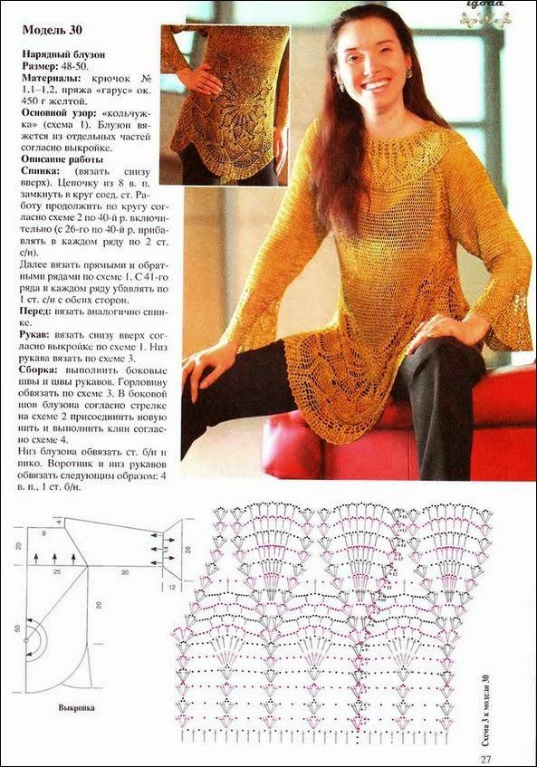 Suéter de verano de dama al crochet