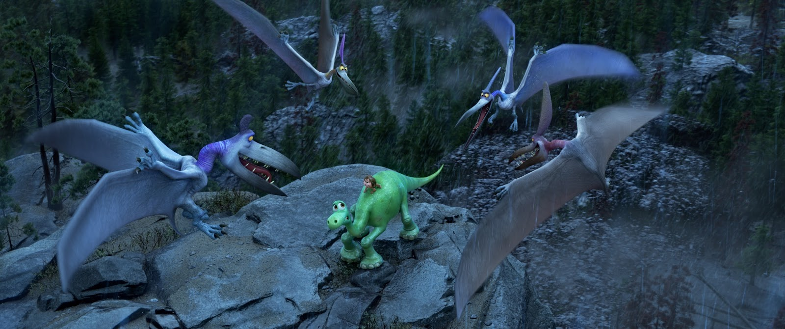 The Scenes With Poppa Dying T Rex Roaring Raptors Rustling And Pterodactyls Attacking Can Be A Bit Intense Scary Violent For Younger