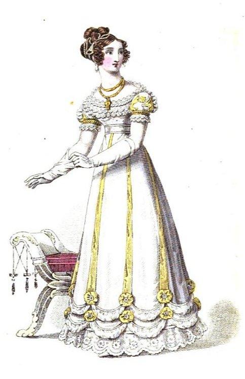 Regency History Post Regency Spring Fashion Evening Wear