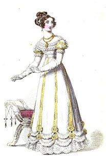 Ball dress   from La Belle Assemblée (Feb 1823)