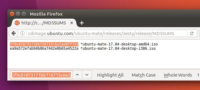 Ubuntu Buzz !: How To Verify A Ubuntu ISO Image Checksum