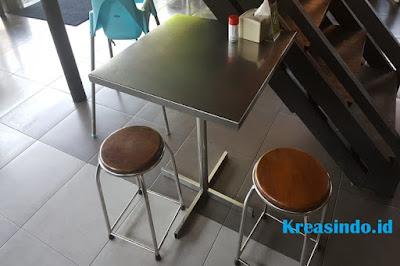 Harga berbagai model Meja Cafe Stainless Terbaru