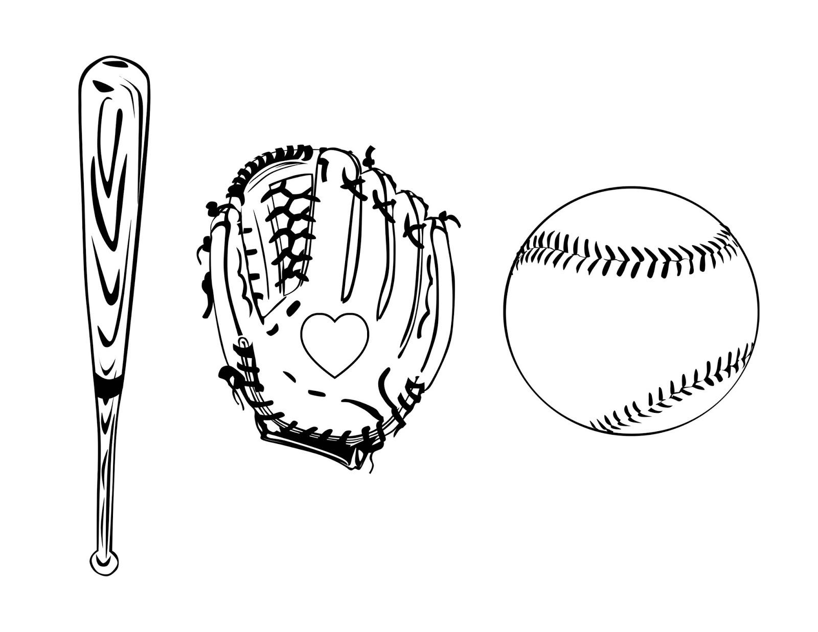Cjo Photo I Love Baseball Coloring Page