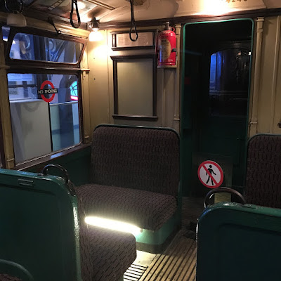 Old underground train carriage