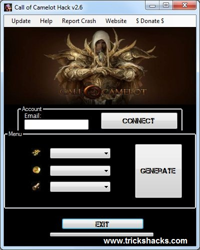 THIS IS CALL OF CAMELOT HACK CHEATS TOOL 2013 SCREENSHOT