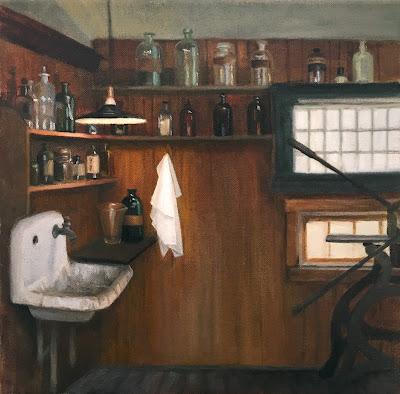 interior paintings, studio space, studio interior