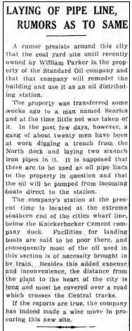 8055958c2 On June 22, 1916, the Hudson Evening Register reported rumors that Standard  Oil was planning to move its depot to the vicinity of North Bay.