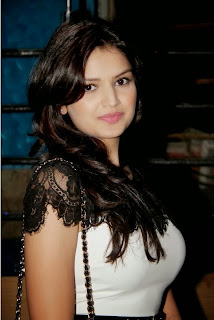Tara Alisha Berry in milky white Dress with Transparent Shoulders Spicy Beauty Cute Pics