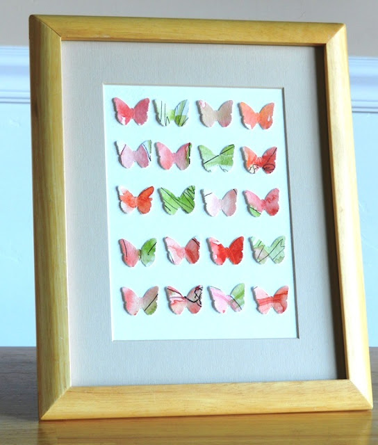 watercolor butterfly art