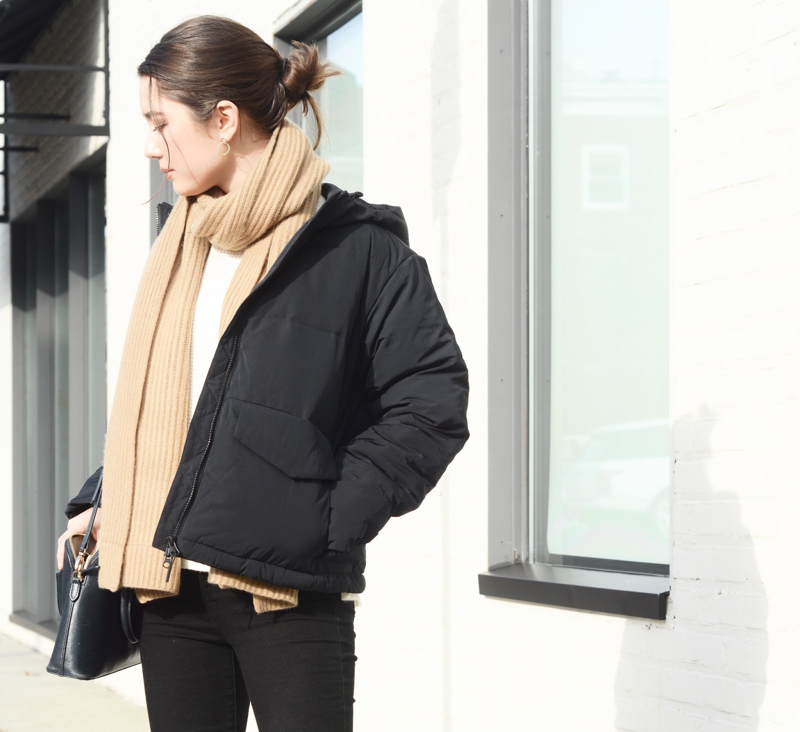 Everlane Short Puffer Jacket Review Photos Sizing Fit Petite