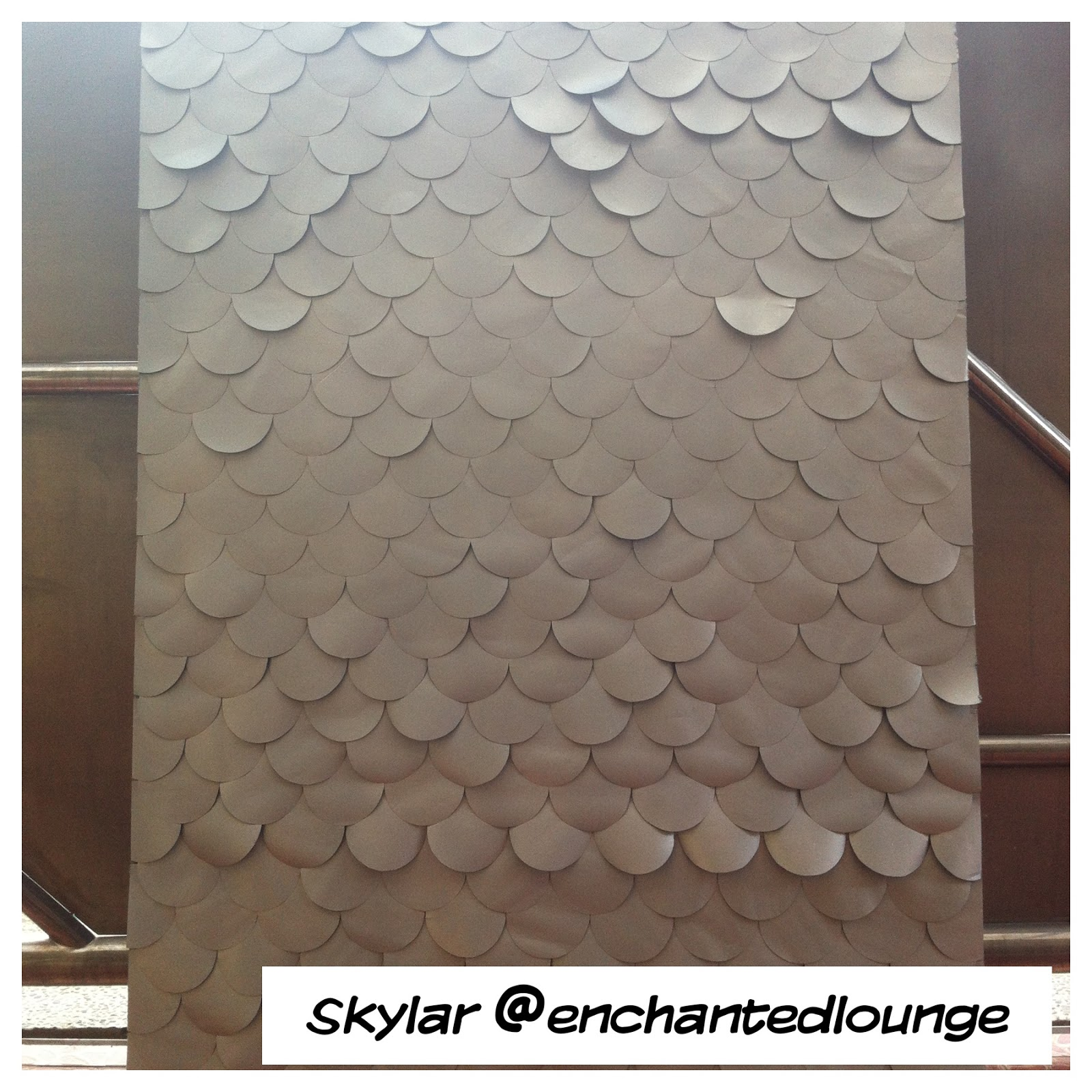 DIY Weekend Project : Silver Fish-scale Wall Art | Fienna ...