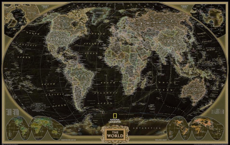 mundo mapa azul preto amarelo