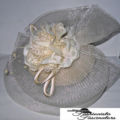 cream rose saucer wedding fascinator Nairobi Kenya