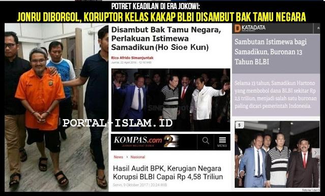 """Jokowi """"Hebat""""! JONRU diborgol, Koruptor Kelas Kakap BLBI Disambut Bak Tamu Negara"""