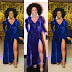Popular Actress Rita Dominic stuns in blue velvet gown (photo)