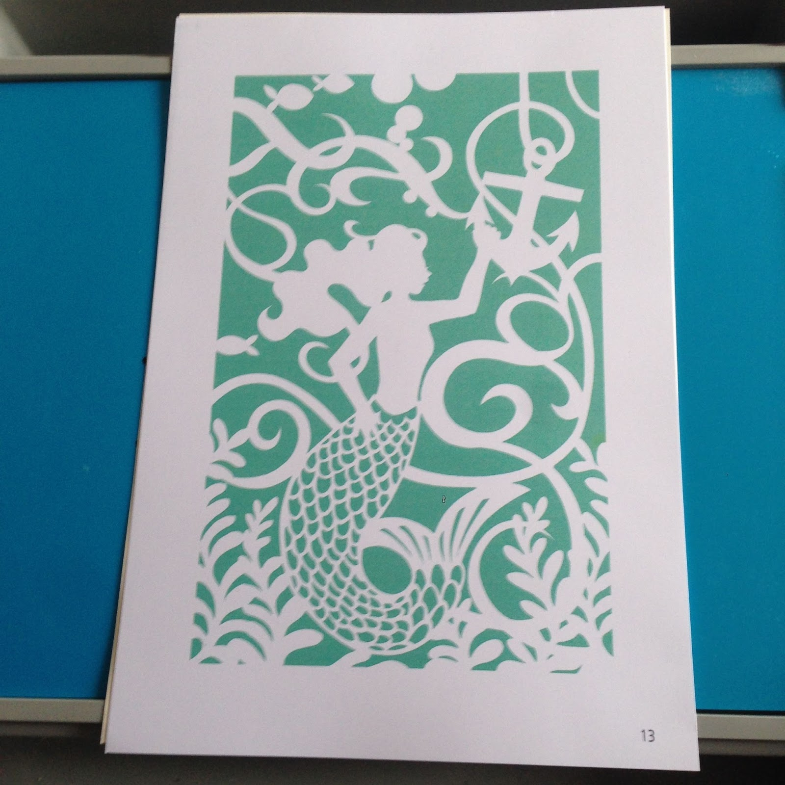 the summerhouse by the sea something new paper cutting