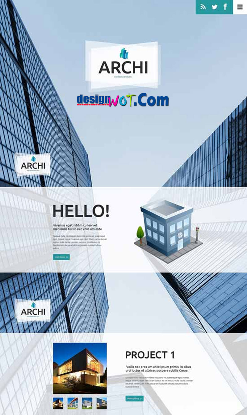 ARCHI Responsive HTML WordPress Template