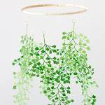 Paper maidenhair fern mobile