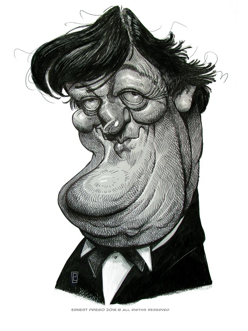 Stephen Fry por Ernesto Priego