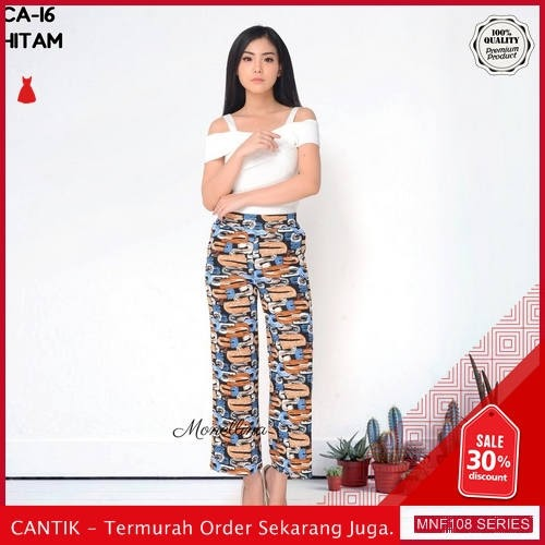 MNF108C148 Celana Ca Wanita 16 Abstrak Kulot Celana 2019 BMGShop