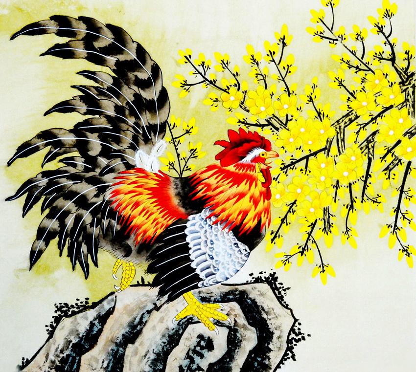 Петух в китайской живописи
