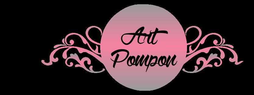 Pompony Tiulowe Art Pompon Litery 3d