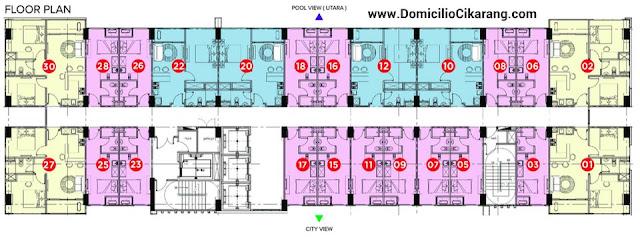 Floor Plan Apartemen Domicilio Cikarang Tower 1