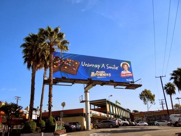 Little Debby Cosmic Brownies Unwrap a smile billboard