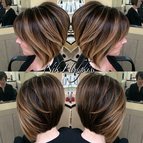 balayage for short hairstyle